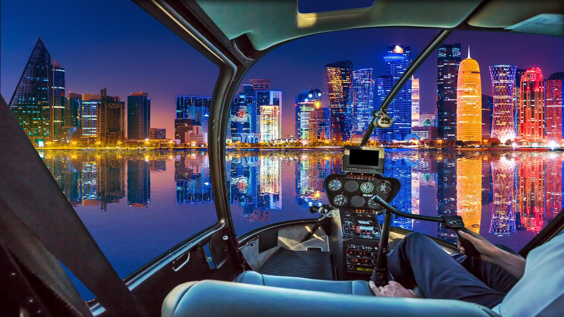 Doha Bay aircraft